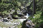 Erster kleiner Wasserfall